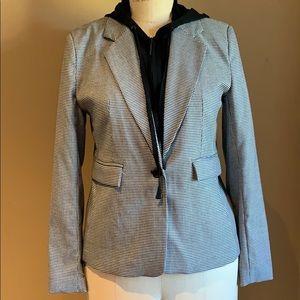 Kenneth Cole Layered Mini Check pattern Blazer